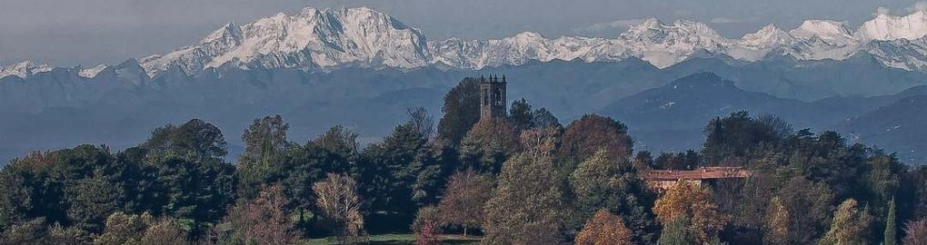 Arco alpino visto da Colle Brianza